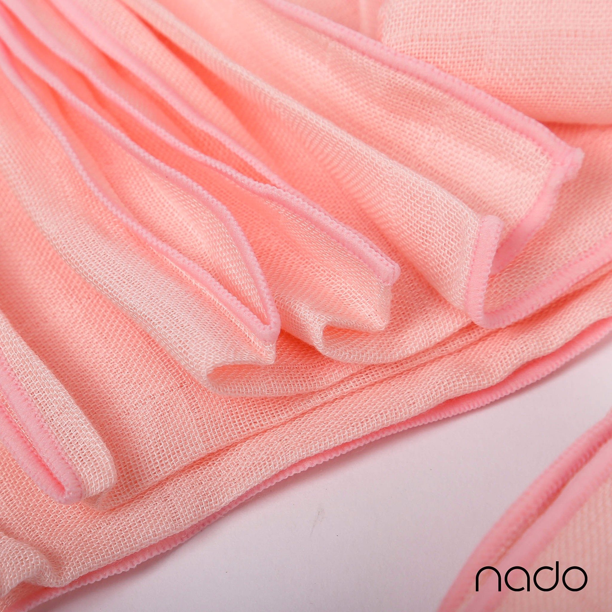 Set 2 khăn sợi tre Nappi màu hồng 77*77 cm