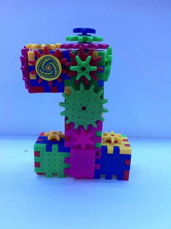 Đồ chơi chuyển động lắp ghép bánh răng Funny Bricks 81 chi tiết