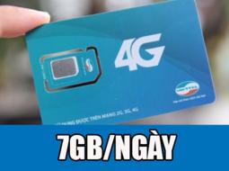 Sim 4G Viettel tặng 7GB ngày