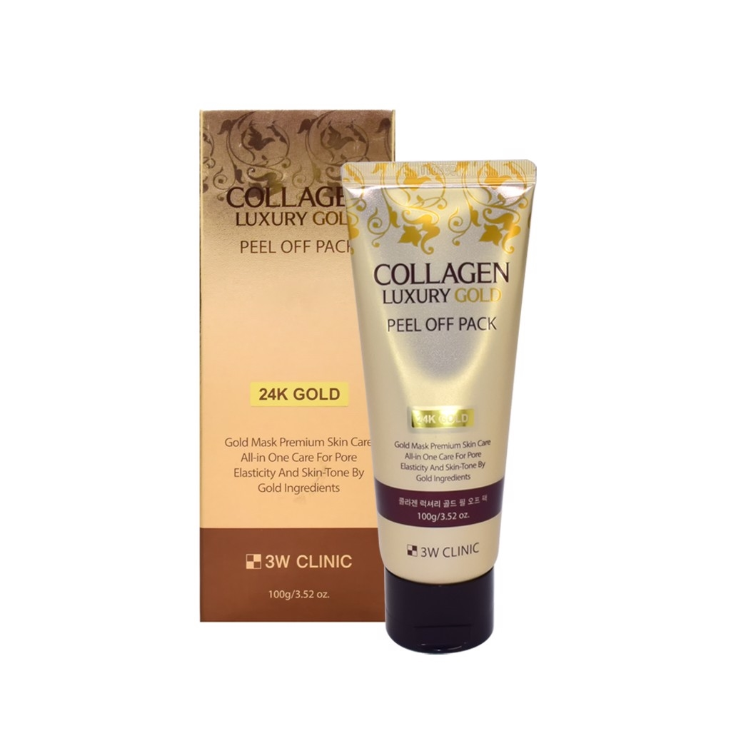 Mặt nạ vàng 3W Clinic Collagen Luxury Gold Peel Off Pack 100g
