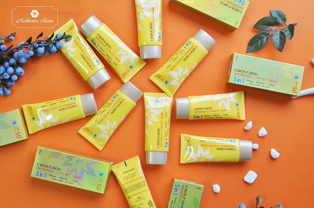 Kem chống nắng Chou Chou Waterproof UV Protect Cream Hàn Quốc 50ml