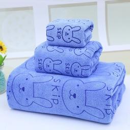 Bộ 3 khăn tắm - khăn mặt - khăn lau (Xanh) 1000000043