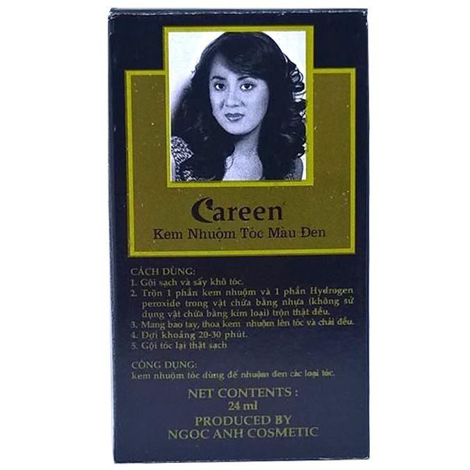 Thuốc nhuộm tóc màu đen Careen Dark Hair 24ml