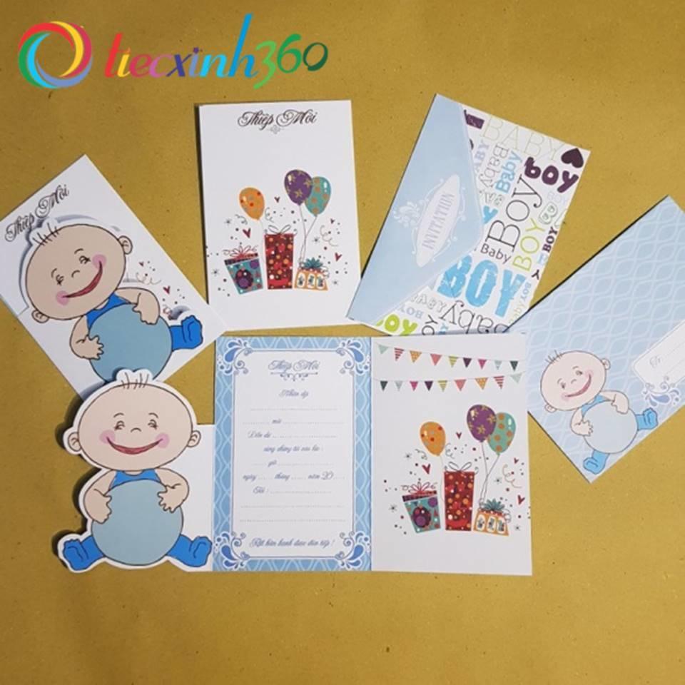 5 thiệp mời sinh nhật Cute Baby Boy