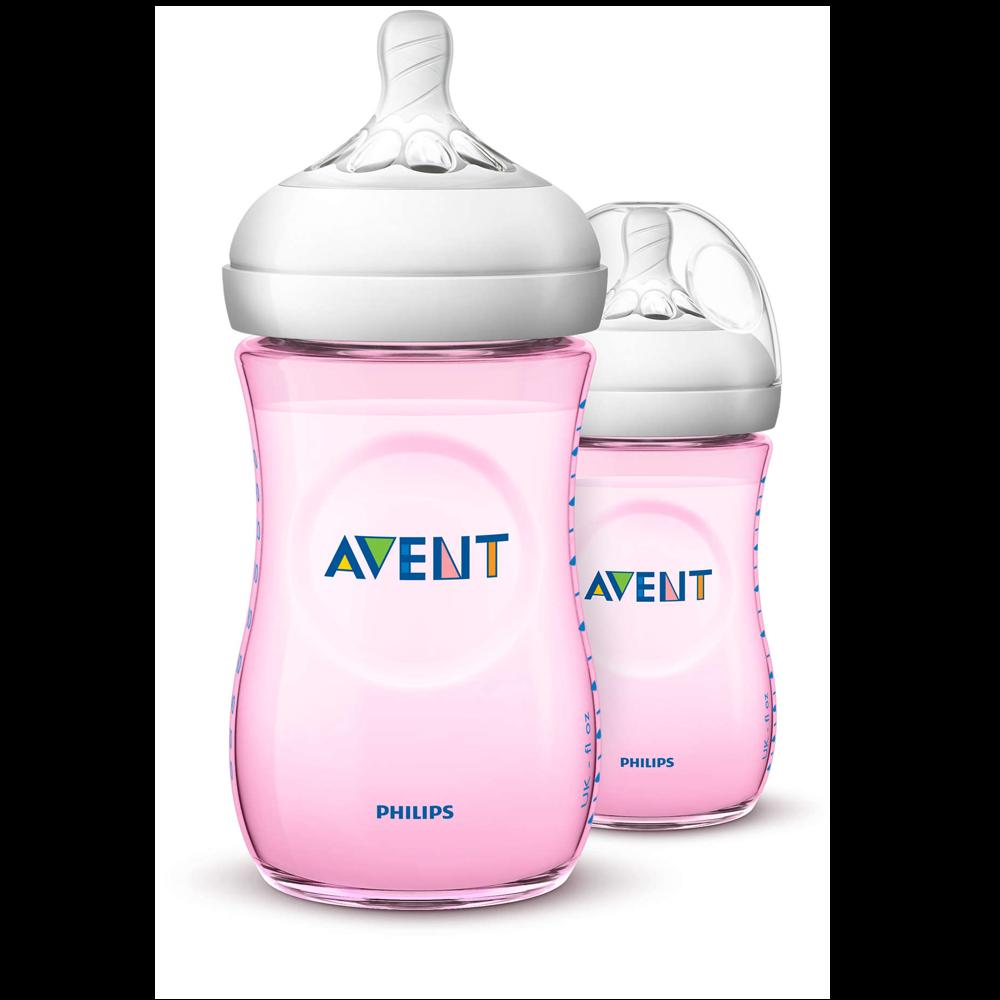 Bình sữa Philips AVENT Natural 260ml màu hồng