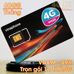 Sim vinaphone VD89 62GB/Tháng