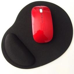 Miếng lót chuột EVA PU có đệm êm giảm mỏi tay hình oval nhỏ gọn, tiết kiệm không gian bàn làm việc - màu đen MLC38