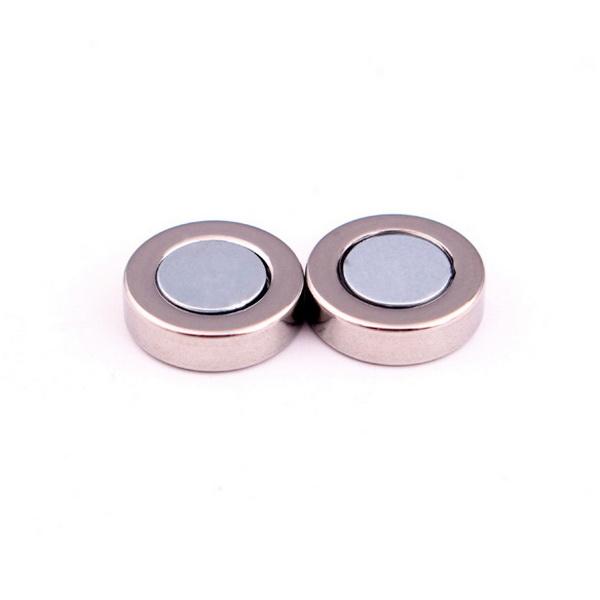 Bông tai nam châm inox màu bạc 10mm NC108, bông tai không cần bấm lỗ