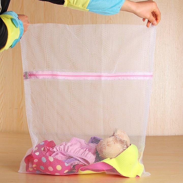 Combo 5 túi lưới bảo vệ quần áo khi giặt máy cỡ lớn 50x60cm