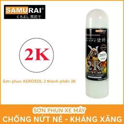 2k01 _ Chai Sơn Xịt Sơn Xe Máy Samurai 2K01 sơn bóng trong suốt 2 thành phần _ Clear Top Coat
