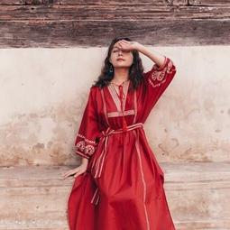 Váy boho đỏ