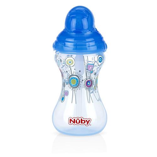 Bình uống nước Nuby ống hút silicon, dung tích 300ml