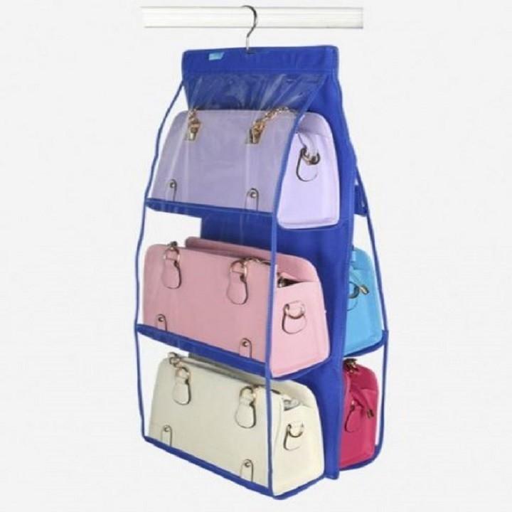 Túi treo, giá treo giỏ xách 6 ngăn 3 tầng