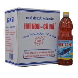 Nước Mắm Hai Non Cà Ná 30 độ đạm 1 lít (thùng 6 chai)