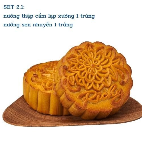 Combo đầm ấm bánh trung thu bánh nướng Richy bánh tươi karo sợi gà tươi CB11