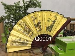 Quạt giấy lụa in hoa Q0001