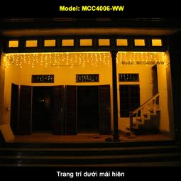 Đèn Mành Rèm 4m x 0.6m - Không chớp nháy - Dây điện trong - Thế Giới Đèn Nháy