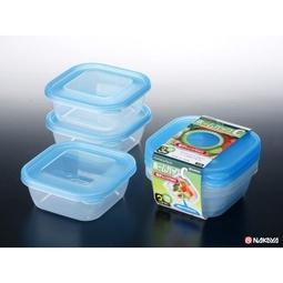 Hàng Nhật chính hãng - Set 3 hộp nhựa 380ml màu xanh