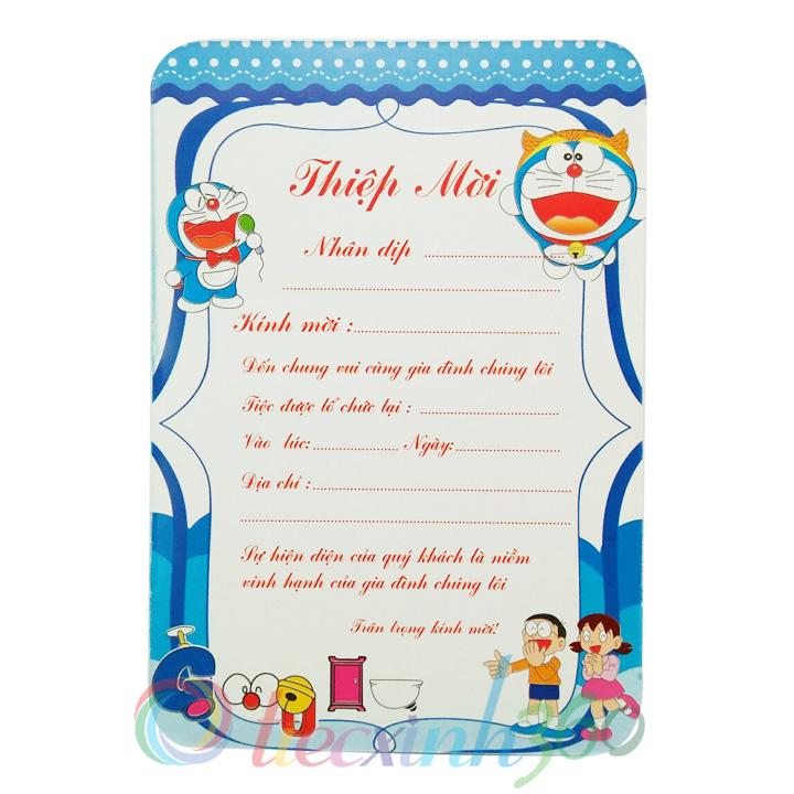 Combo 10 thiệp mời sinh nhật Doraemon