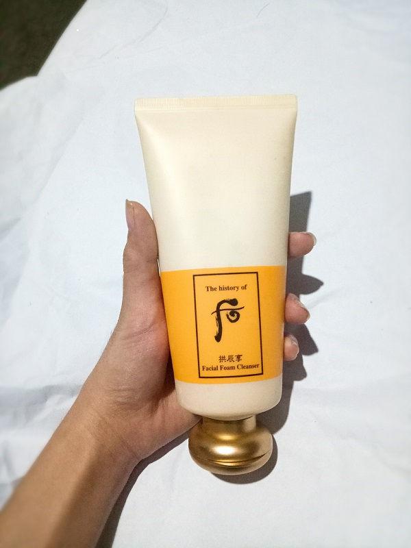 Sữa rửa mặt Whoo vàng Foam Cleanser