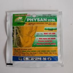Physan 20sl gói 10ml- Dung dịch trị nấm cây trồng