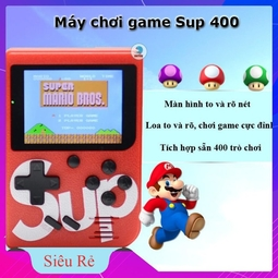 MÁY CHƠI GAME 4 NÚT CẦM TAY SUP GAME BOX 400 IN 1 PLUS (HOT)