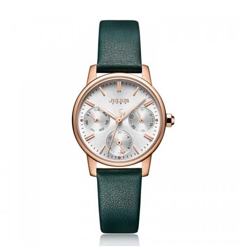 Đồng hồ nữ JULIUS JS-023C dây da kính saphire