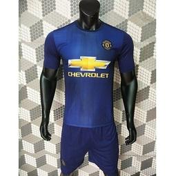 Bộ quần áo bóng đá mu xanh - Đồ đá banh 2018 2019