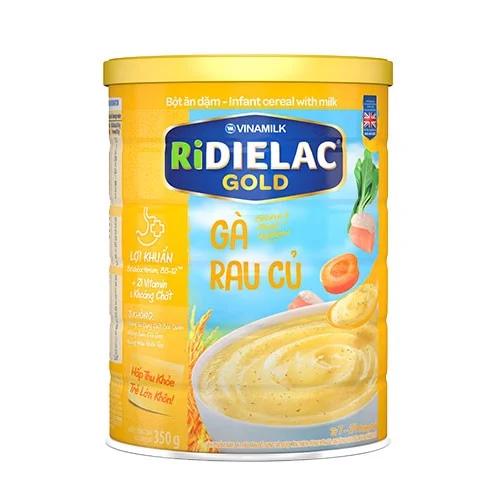 BỘT ĂN DẶM RIDIELAC GOLD GÀ RAU CỦ - HỘP THIẾC 350G