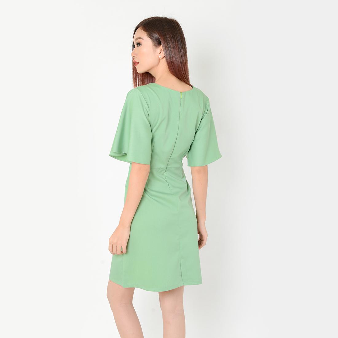 Đầm Suông Công Sở Thời Trang Eden Tay Loe - D334 - Màu xanh