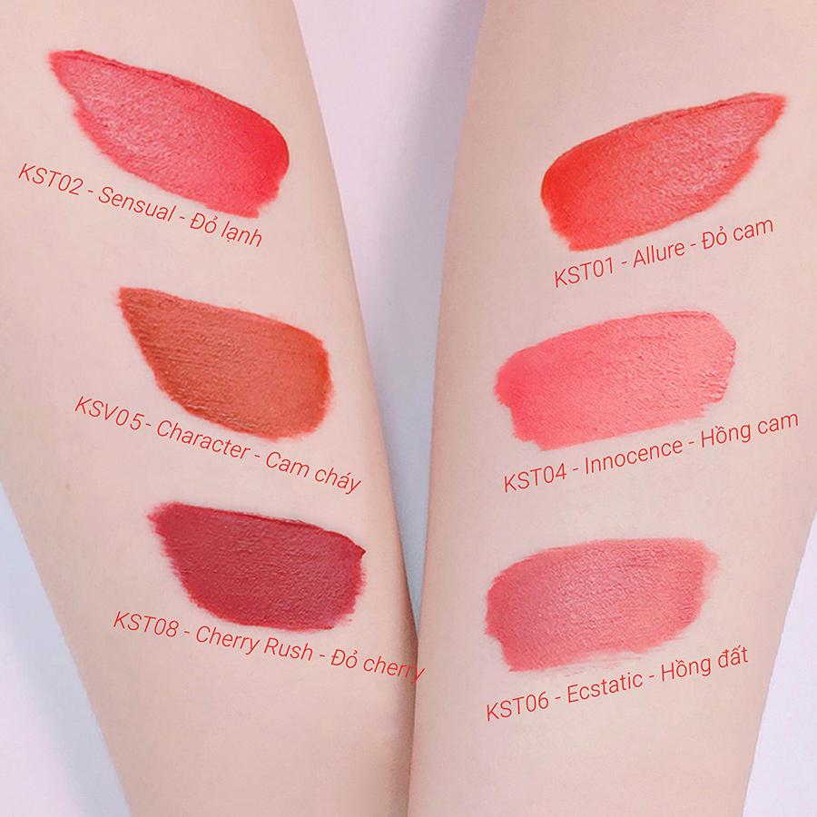 Son Chocolate Matte Lipstick KYS – ALLURE ĐỎ CAM