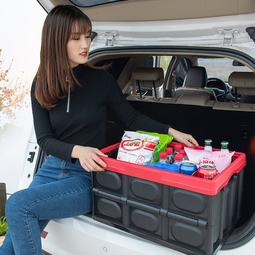 Thùng nhựa đựng đồ để cốp sau xe ô tô MÀU ĐEN 56 LÍT