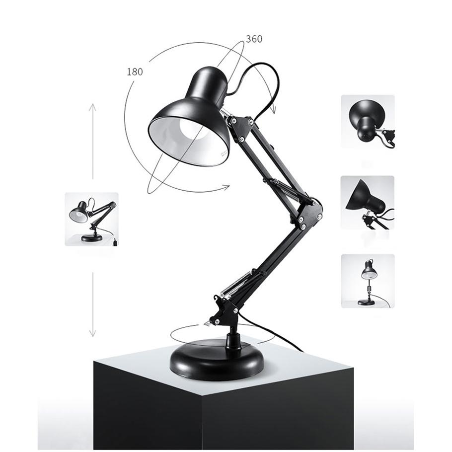 Chân Đèn Bàn Học Tập Làm Việc Có Chân Kẹp Bàn Kiểu Dáng Pixar Bằng Thép  Khối Lượng 1.6Kg Mã T811 Màu Đen - P83839 | Sàn thương mại điện tử của