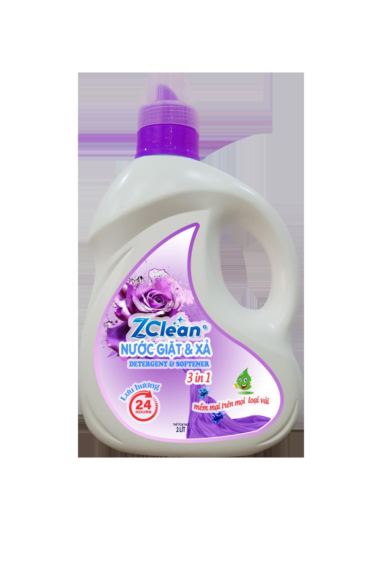 Nước giặt xả ZCLEAN 3 in 1