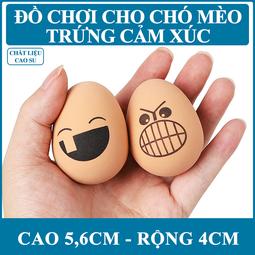 Trứng Cao Su Mặt Cảm Xúc Cho Chó Mèo DC1301