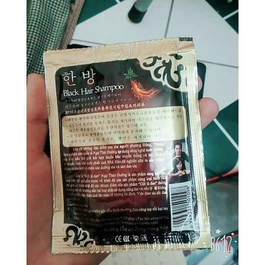 Dầu gội nhuộm tóc black hair shampoo Hàn Quốc 30ml