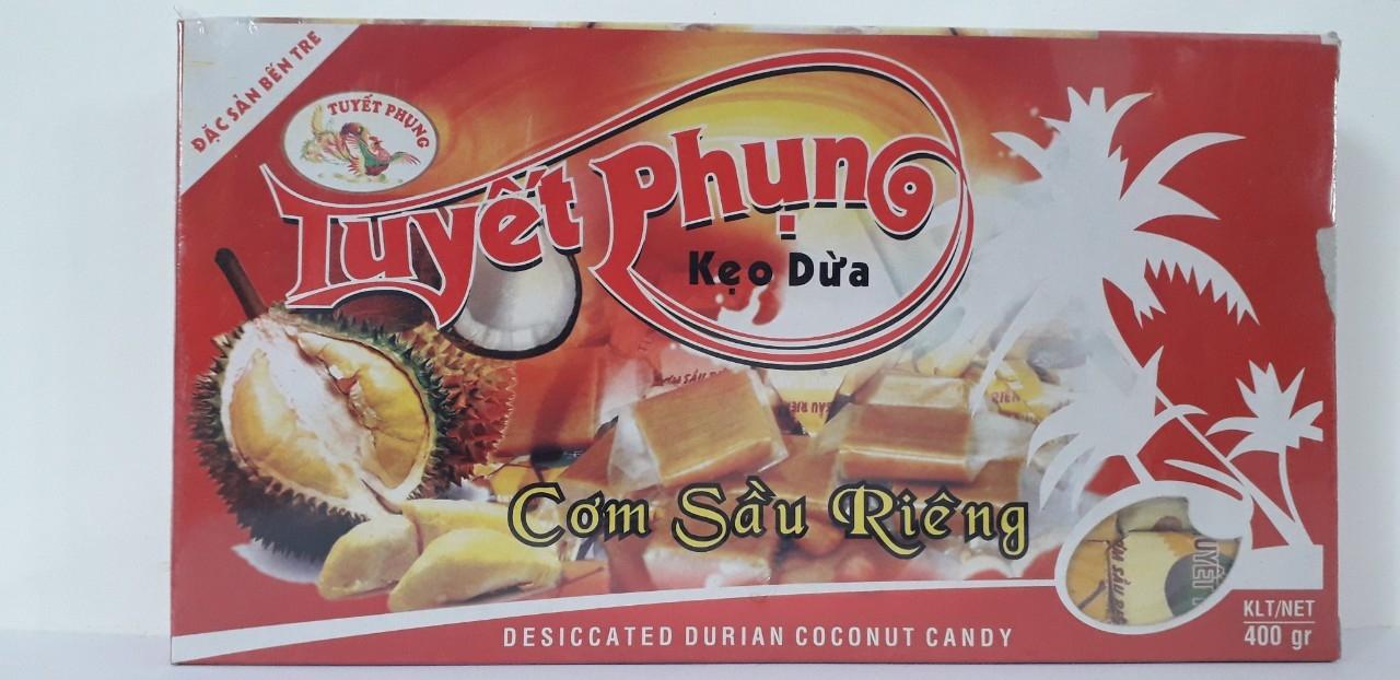 Kẹo dừa cơm sầu riêng đặc biệt Tuyết Phụng