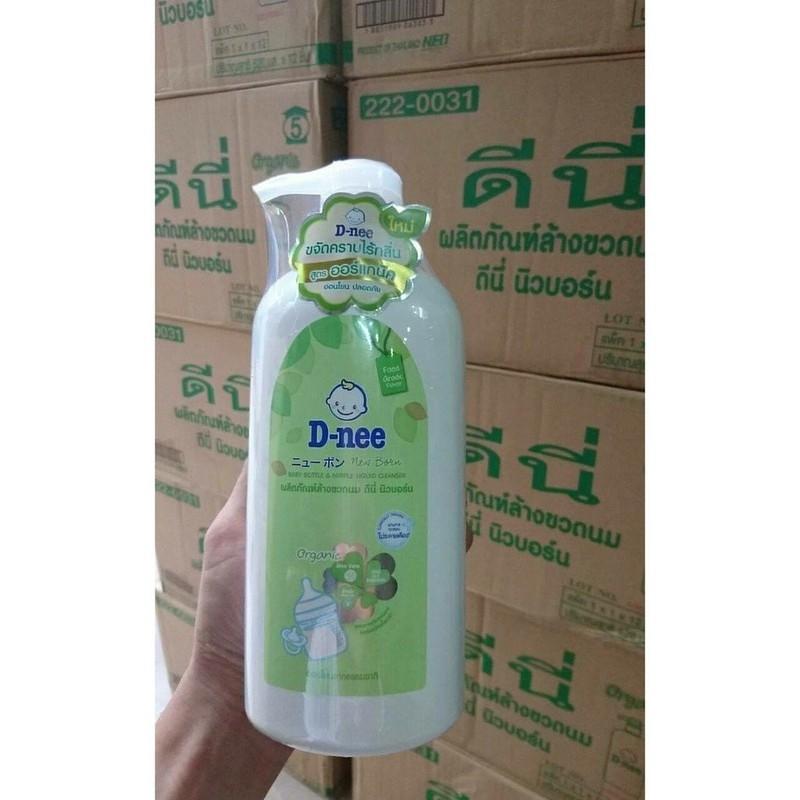 Nước Súc Bình Sữa Và Rửa Trái Cây Dnee Chai 620ml Xuất Xứ Thái Lan
