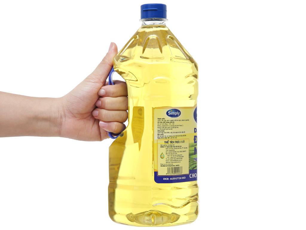 Combo 2 can dầu ăn đậu lành simply 2 l