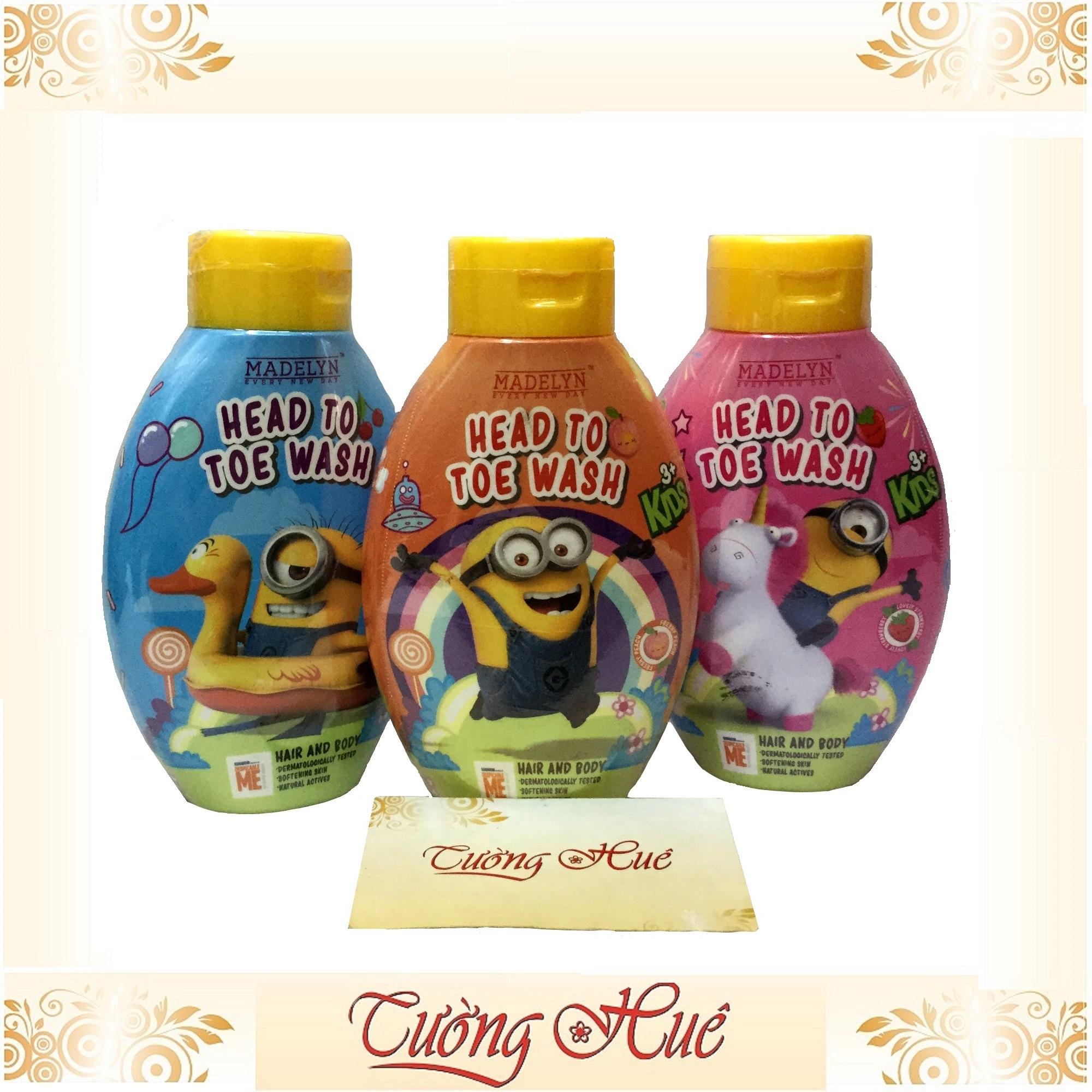Tắm gội Thái Lan cho trẻ Minion Madelyn Head To Toe Wash Peach - Hương đào - 250ml