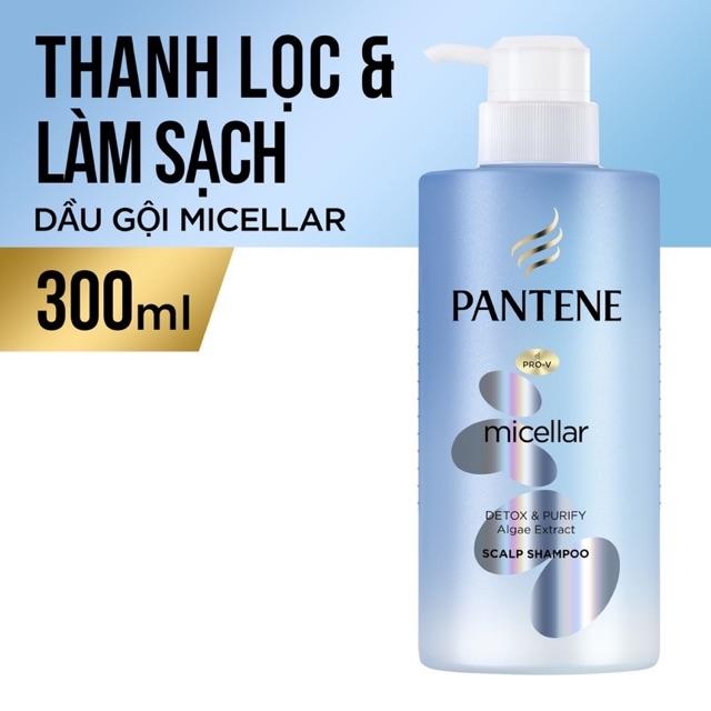 Combo 1 dầu gội xả Pantene Micellar 300ml + Downy đam mê 1.8L