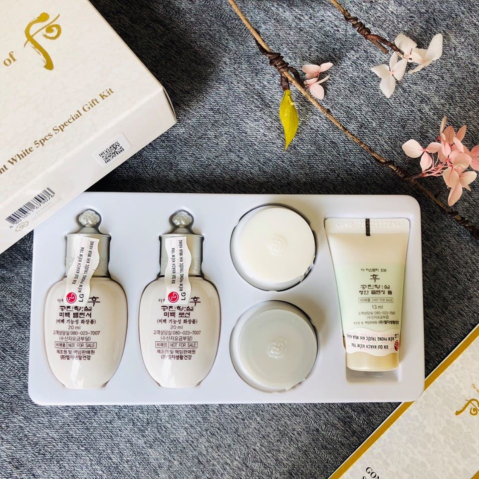 Set dưỡng trắng da và trị nám 5 món - Whoo Seol Radiant White Special Gift Set