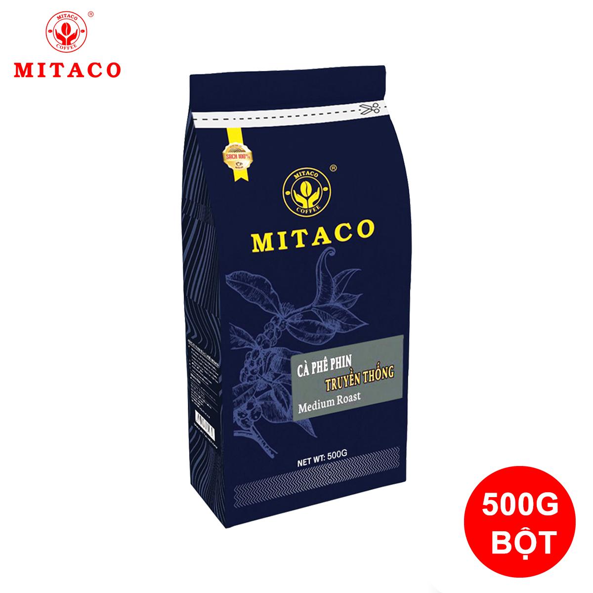 Cà Phê Phin Truyền Thống Dạng Bột 500g - Gu Vị Truyền Thống Sạch Nguyên Chất 100%  - MITACO COFFEE
