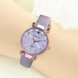 Đồng hồ nữ DOUKOU 3325 dây da mềm số in nổi mặt kính vát 3D size 32mm DK3325