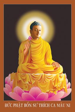 Tranh Phật Thích Ca Mâu Ni HP_2489 - 40 x 60