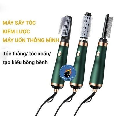 Lược điện tạo kiểu tóc kiêm máy sấy khí tạo phồng đa năng Máy sấy kiêm lược tạo kiểu tóc cao cấp Lược điện