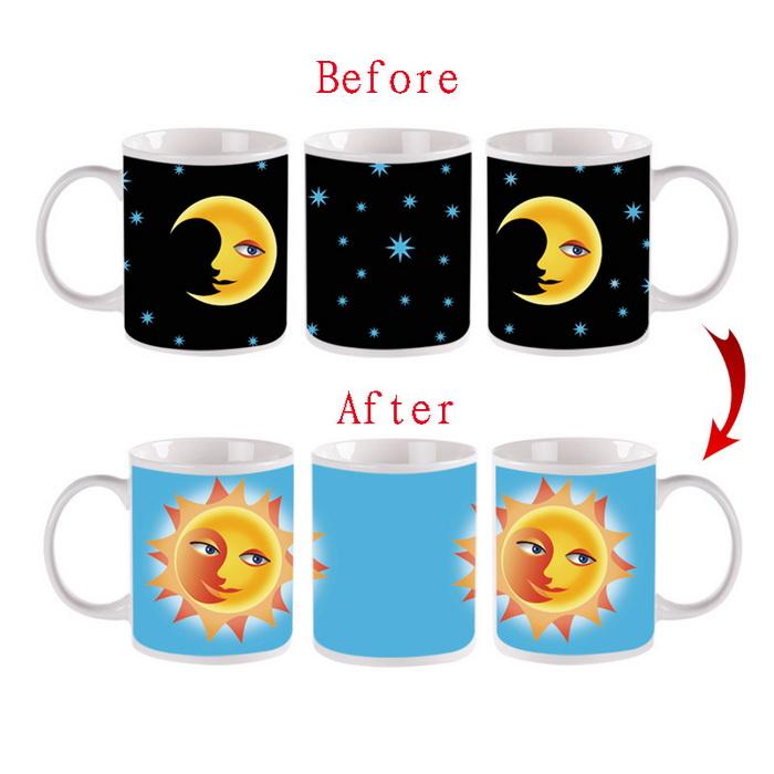 Ly đổi màu Mặt trăng - Mặt trời (Sun & Moon  Color Changing Cup), Cốc đổi màu hình ảnh độc đáo