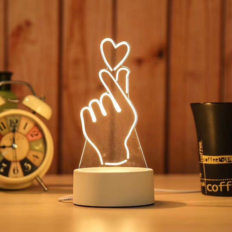 Đèn Ngủ 3D Ánh Sáng Sáng Tạo Hình I Love You