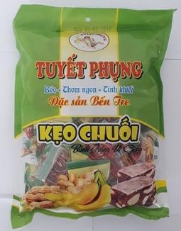 Kẹo chuối bánh tráng đậu phộng Tuyết Phụng_Bến Tre