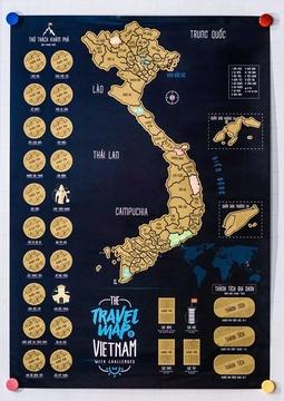 Bản đồ cào phiên bản 2019 kèm thử thách